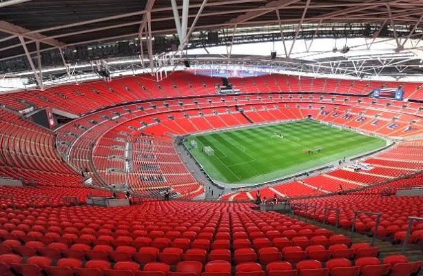 Estádio de Wembley em Londres na Inglaterra