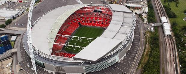 Vista aérea do Estádio de Wembley em Londres
