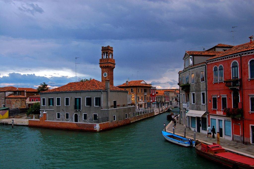 Construções na Ilha Murano em Veneza na Itália