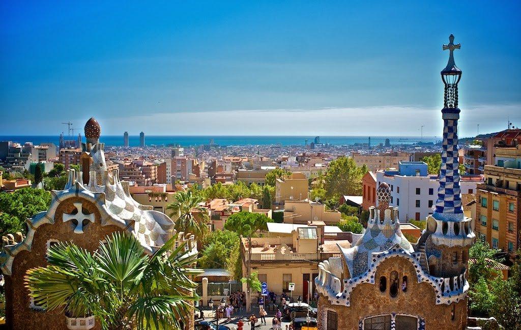 Parque Guell em Barcelona na Espanha