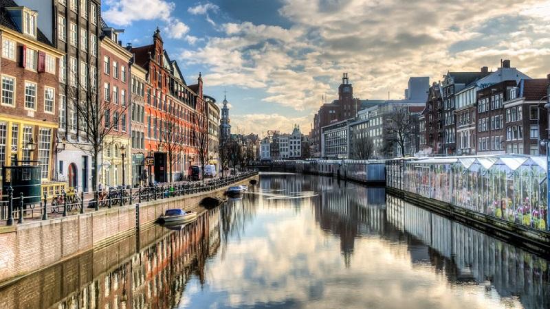 Canal Singel em Amsterdam | Holanda