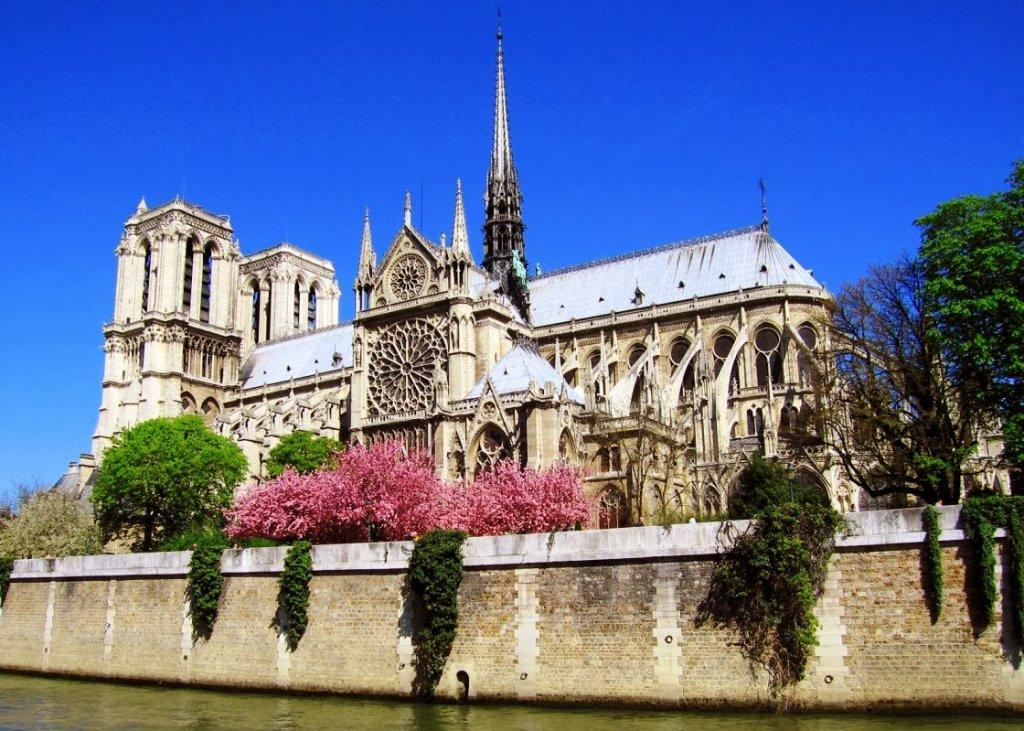 Catedral de Notre Dame em Paris vista de fora