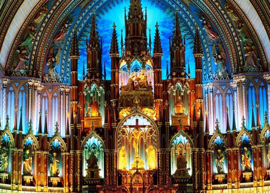Altar da Catedral de Notre Dame em Paris