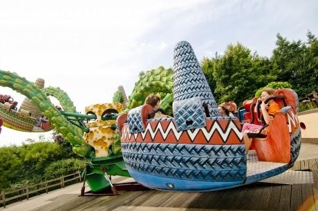Brinquedo do Parque de diversões Walibi Holland na Holanda