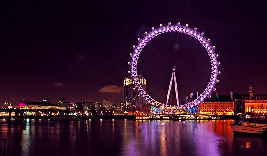 Roda gigante London Eye em Londres na Inglaterra