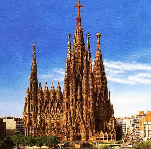 Templo Expiatório da Sagrada Família em Barcelona