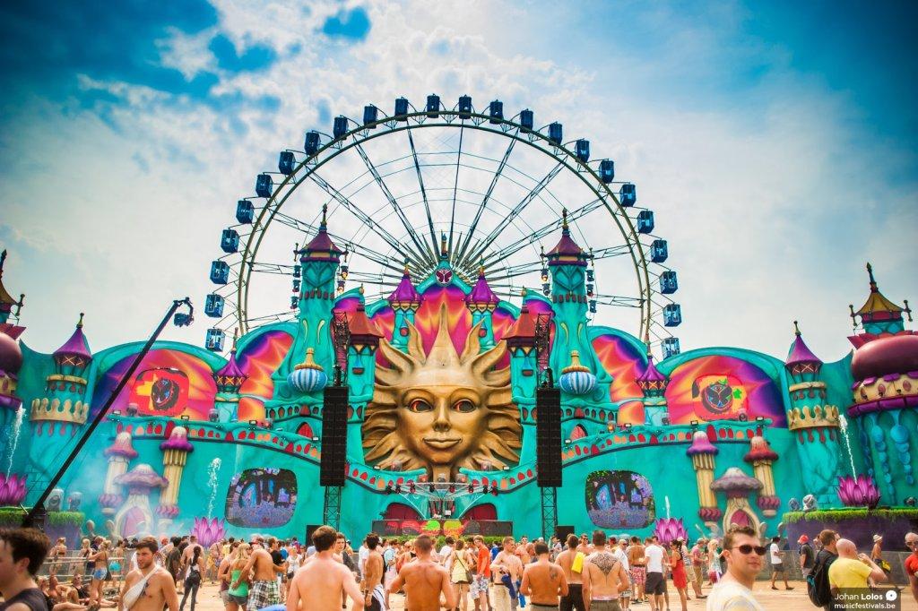 Palco do Tomorrowland em Boom na Bélgica