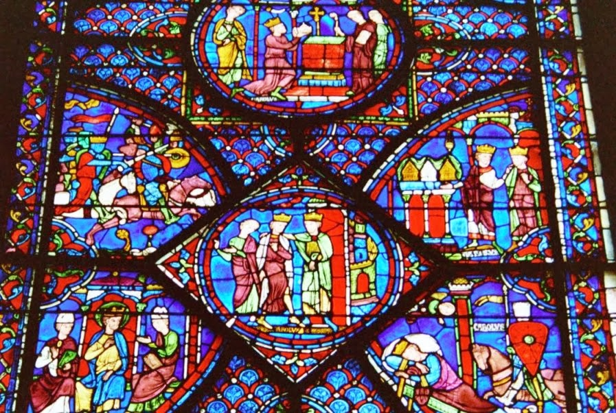 Vitral da Catedral de Notre Dame em Paris
