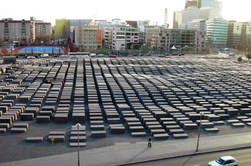 Memorial do Holocausto em Berlim visto de cima