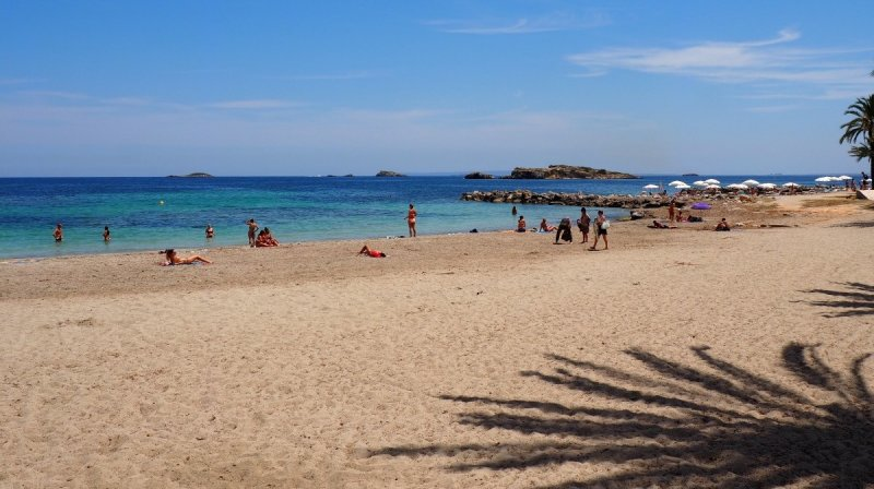 Praia de Figueretas em Ibiza | Espanha