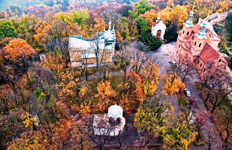 Parque Petrin Hill em Praga