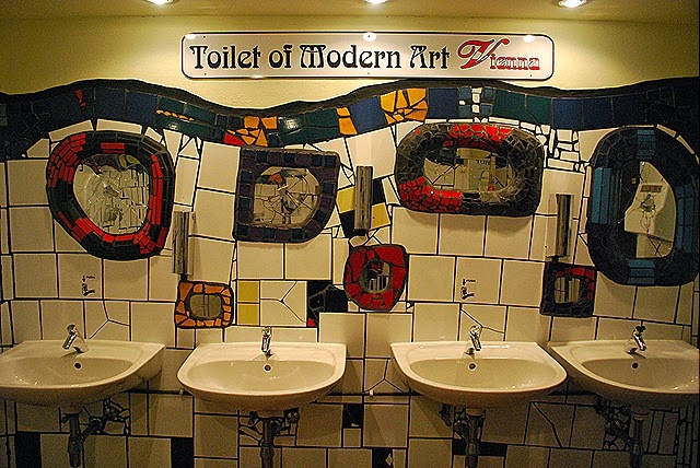 Banheiro em Viena na Áustria