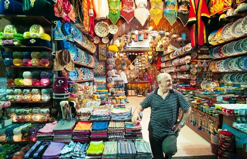 Loja no Grande Bazar de Istambul