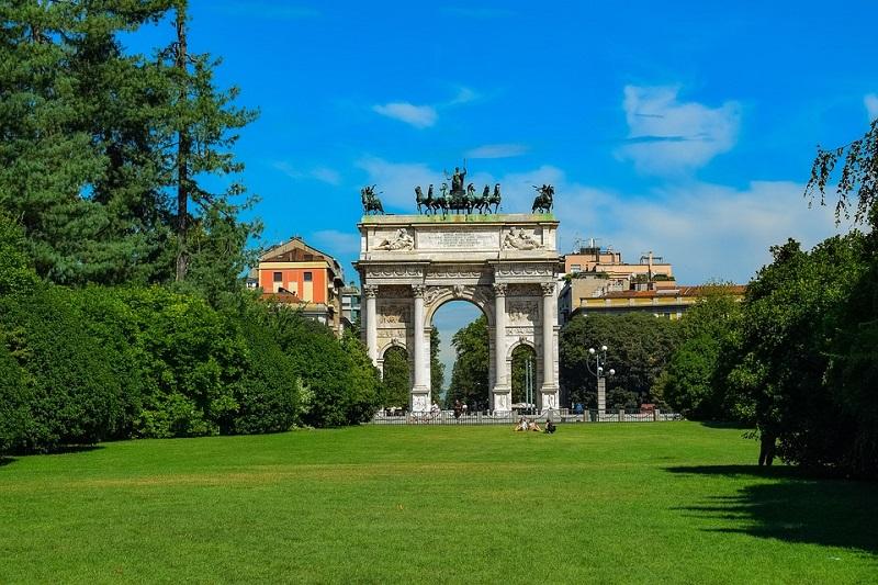 Os parques e jardins em Milão | Itália