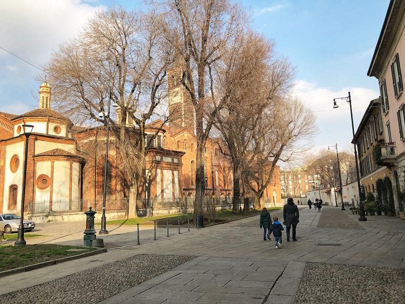 Parque Parco delle Basiliche em Milão – Itália