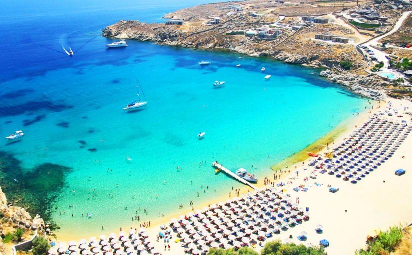 Ilha de Mykonos na Grécia
