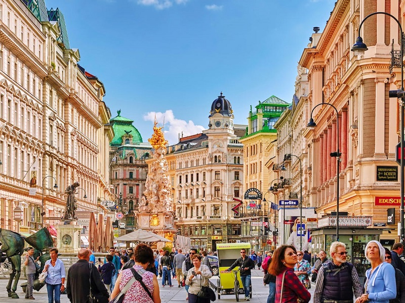 Rua de Viena na Áustria