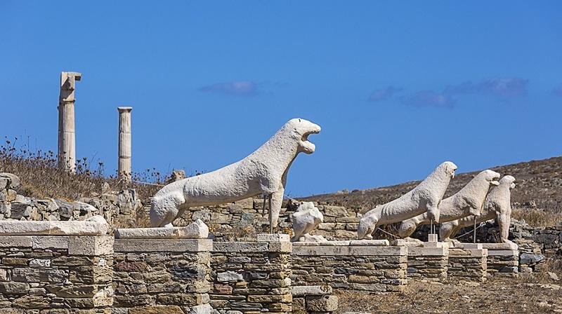 Ruínas na ilha de Mykonos