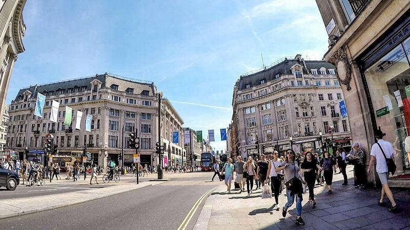 Rua Oxford Street em Londres | Inglaterra