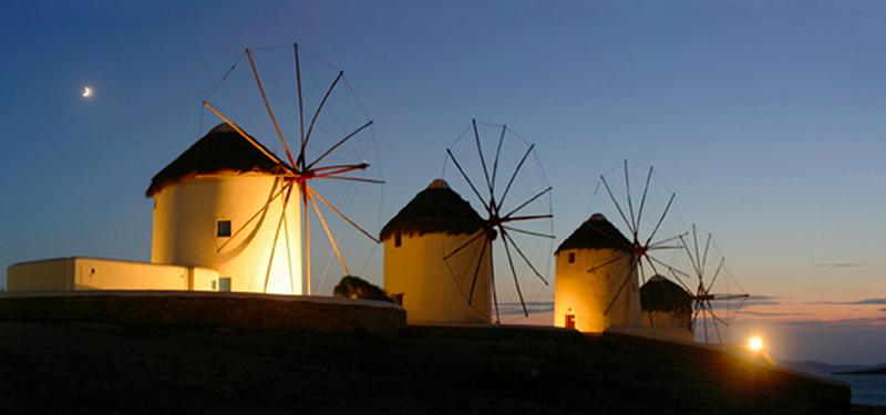 Atração turística da ilha de Mykonos