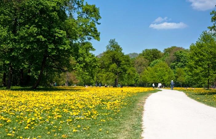 Parque English Garden em Munique