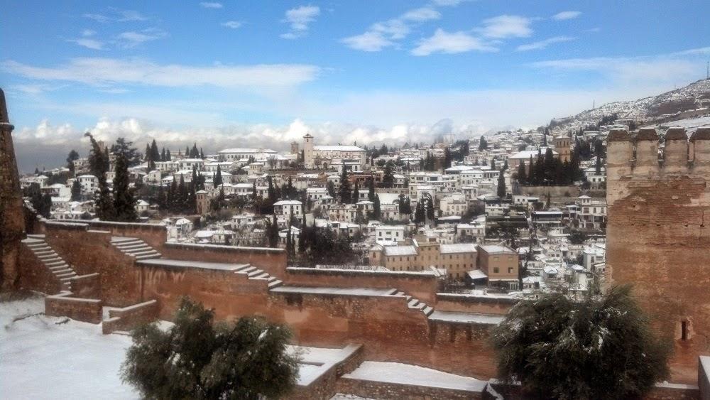Cidade de Granada no inverno