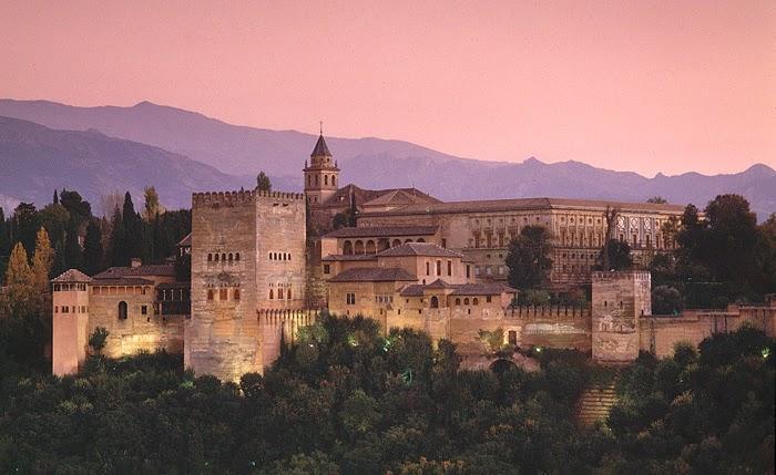 Complexo de Alhambra em Granada
