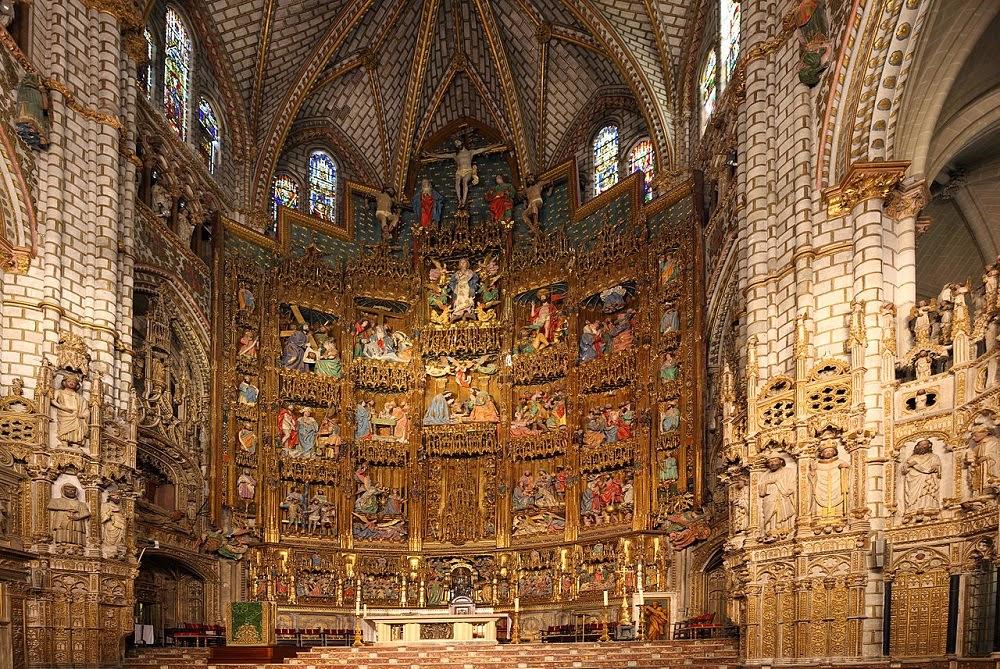 Altar da Catedral de Toledo na Espanha