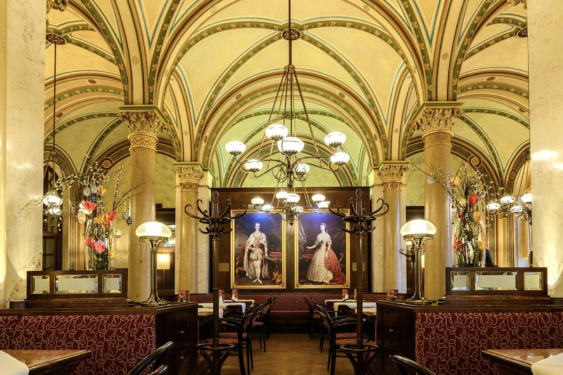 Decoração do Café Central em Viena
