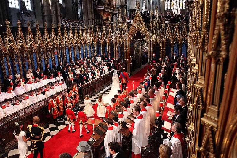 Casamento real na Igreja Abadia de Westminster em Londres