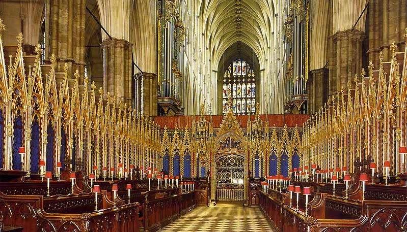 Interior da Igreja Abadia de Westminster em Londres