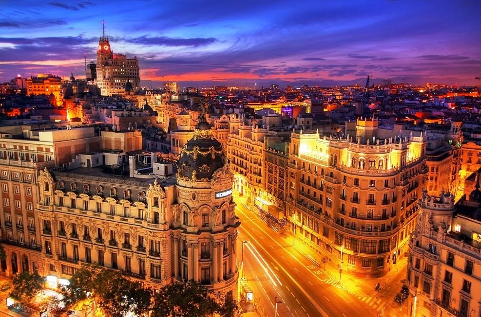 Vista da cidade de Madri