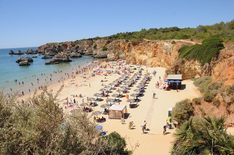 Praia de Portimão em Portugal