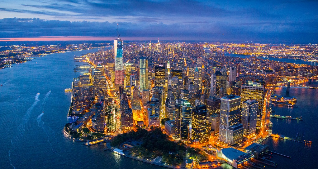Cidade vista de cima