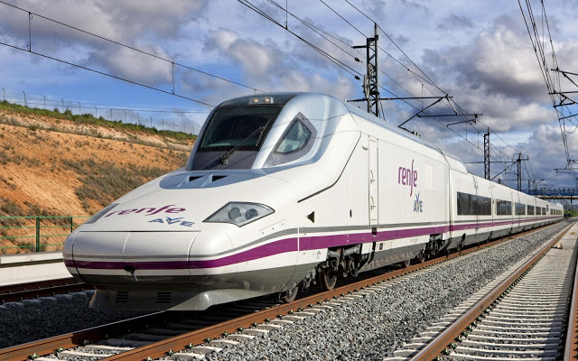 Trem de viagem na Europa