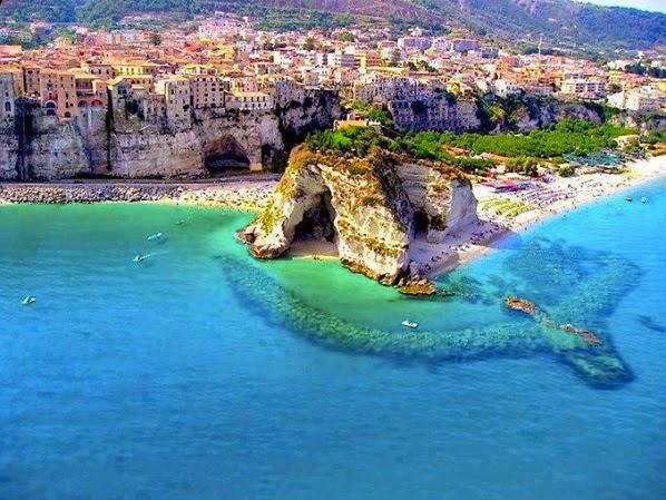 Tropea em Calábria no Sul da Itália