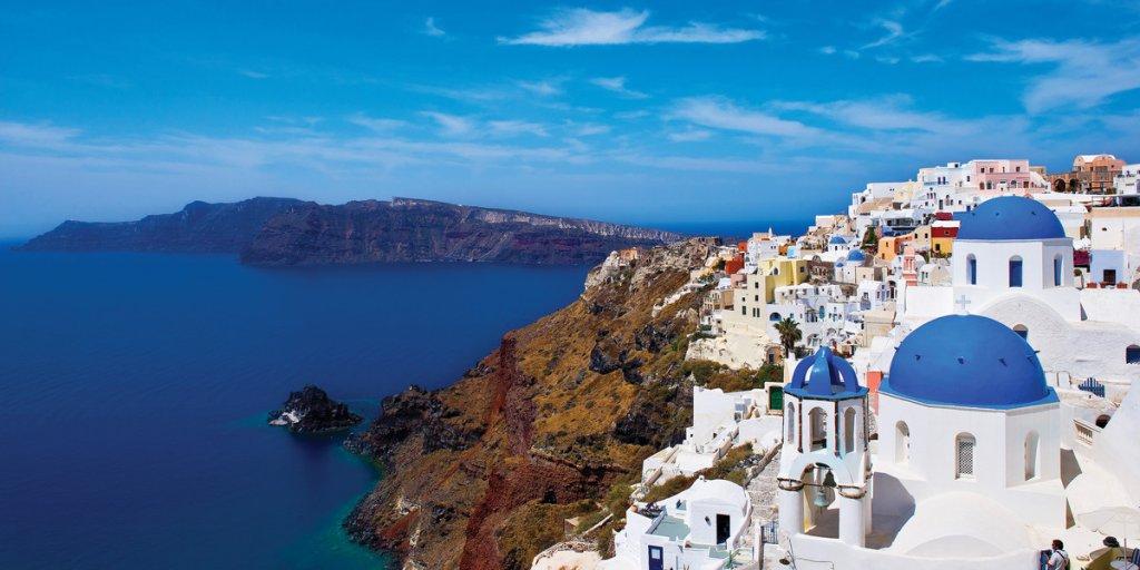 Cidade de Santorini na Grécia