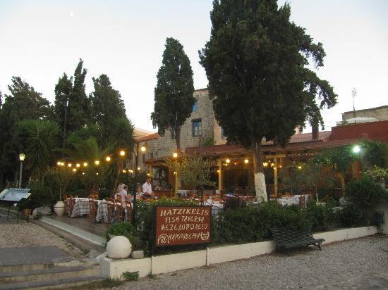 Restaurante Hatzikelis na ilha de Rodes