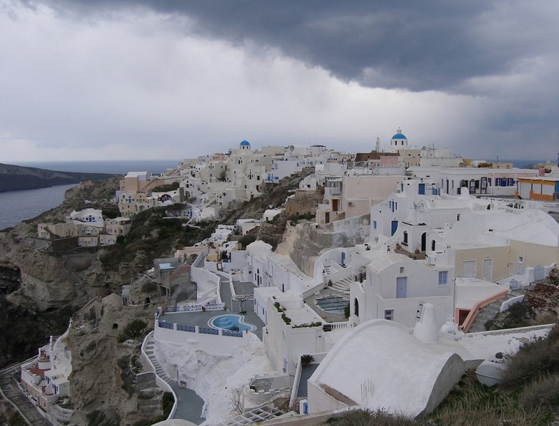 Inverno em Santorini