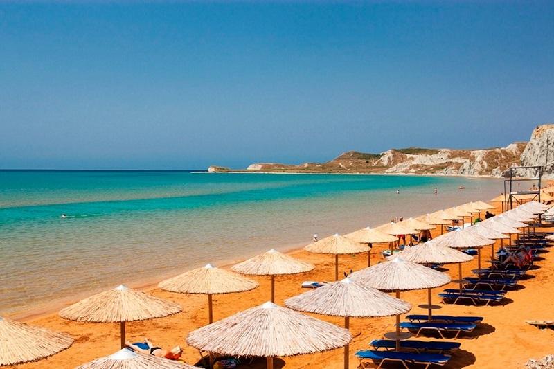 Praia Xi na ilha de Cefalônia
