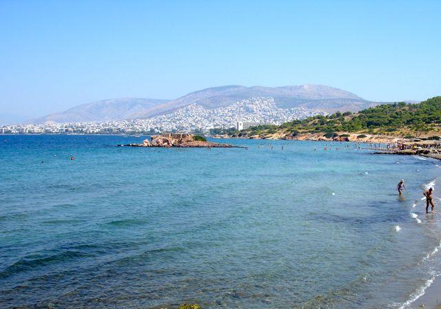 Praia em Atenas na Grécia
