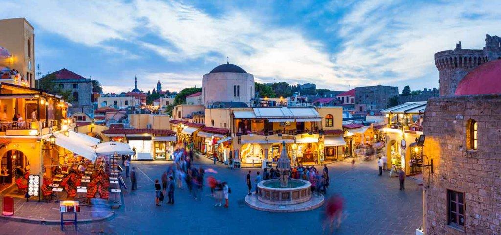 Restaurantes em Rodes na Grécia