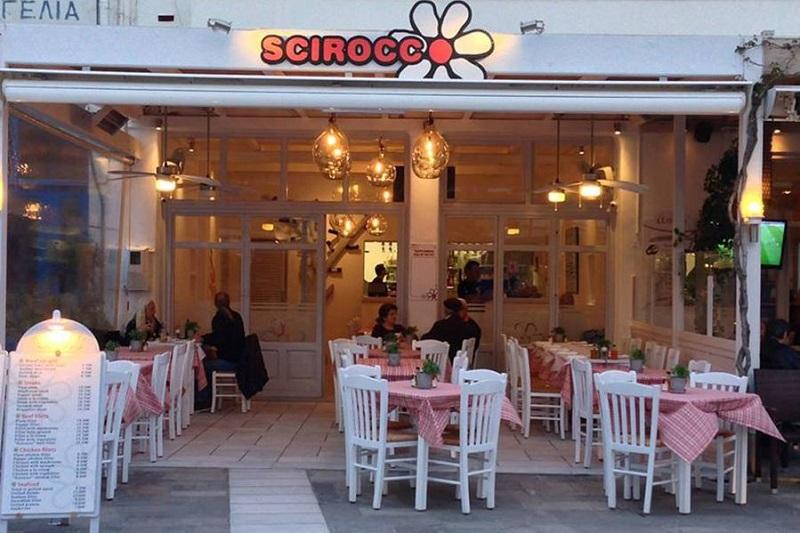 Restaurante Scirocco na ilha de Naxos