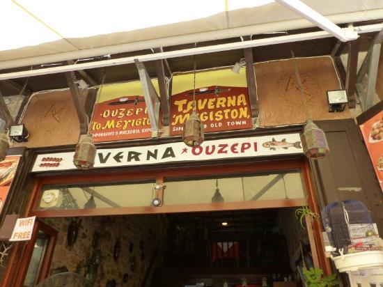 Restaurante To Megiston na ilha de Rodes