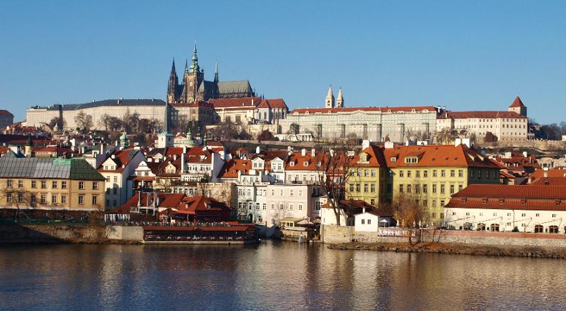 Bairro Hradčany no Distrito do Castelo em Praga