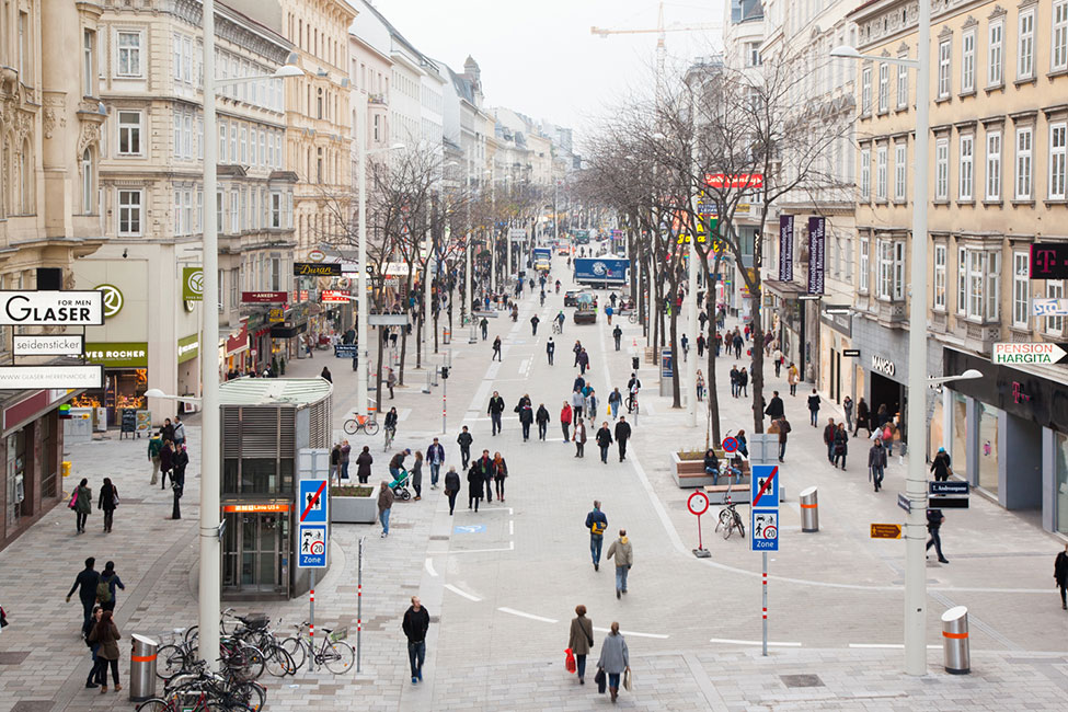 Mariahilferstrasse em Viena