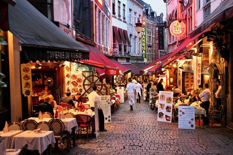 Rue des Bouchers em Bruxelas