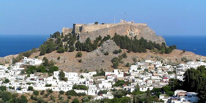 Acrópole de Lindos na ilha de Rodes