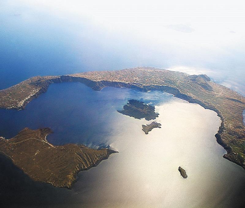 Caldeira em Santorini