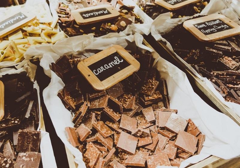 Chocolate vendido em Bruxelas